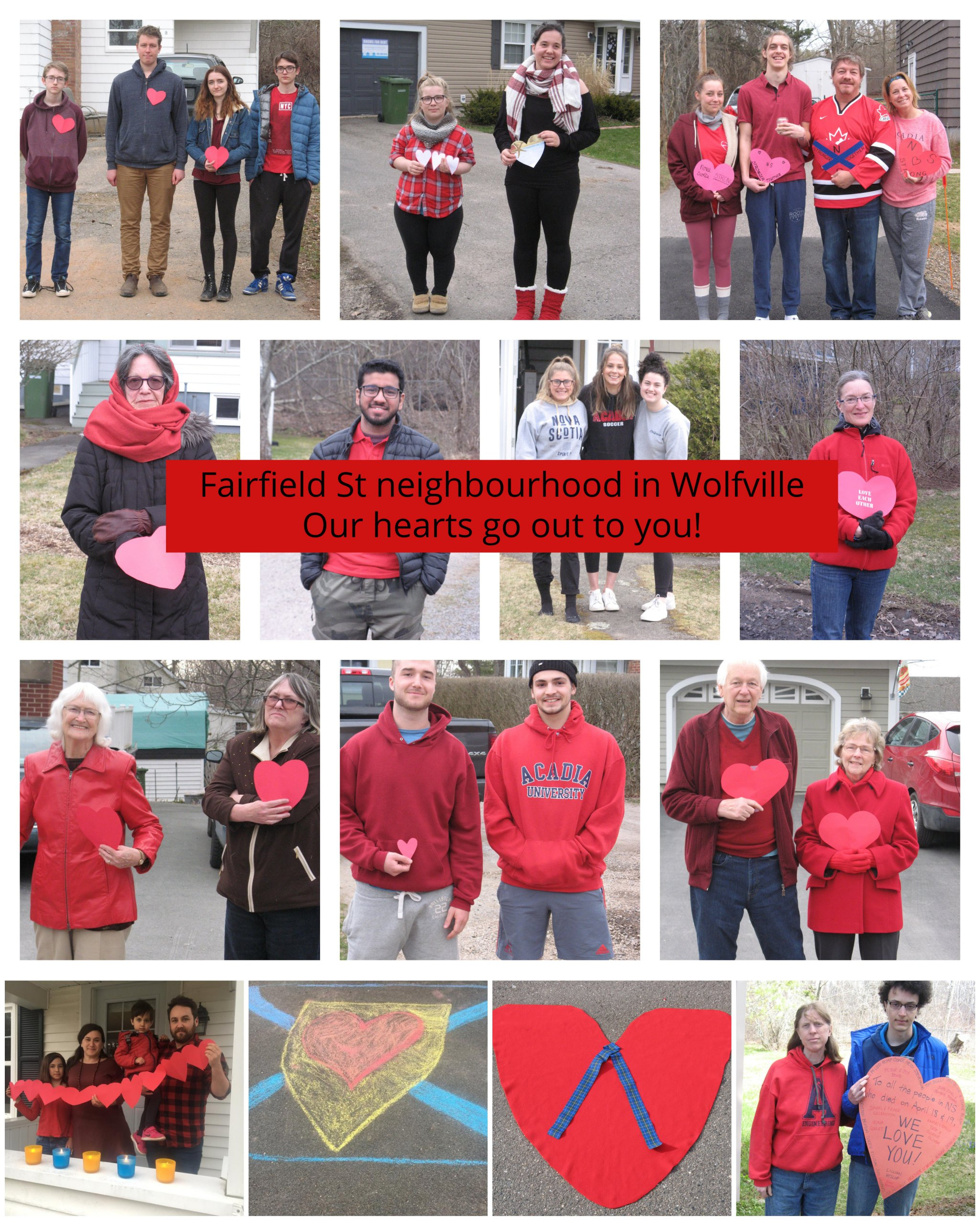 Photos from the Town of Wolfville Vigil with Nova Scotia